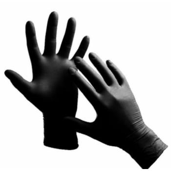 """Перчатки нитриловые NITRYLEX """"S"""" черные 1 пара (2 шт)"""