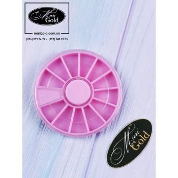 Колесо для декора, маленькое, розовое