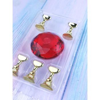 Подставка диамант для образцов, красная