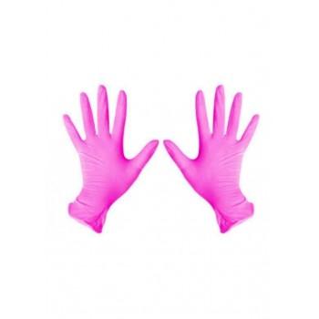 """Перчатки нитриловые NITRYLEX """"M"""" розовые 1 пара (2 шт)"""