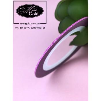 Сахарная нить для дизайна ногтей розовая 1 мм.