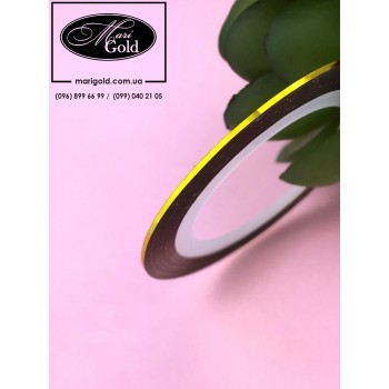 Нить для дизайна ногтей золото 1 мм.