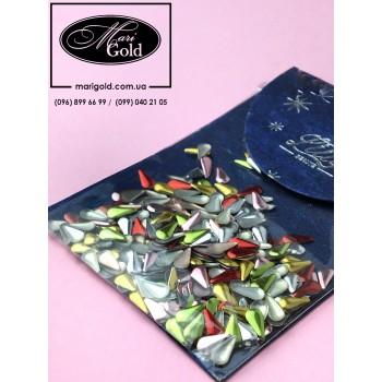 Клепки металлические капля, цветные 6*3 мм