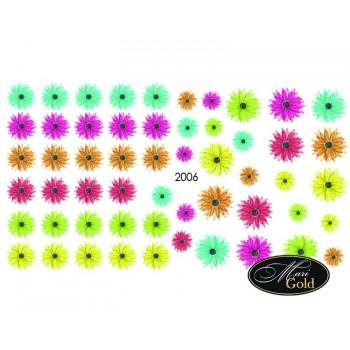 Cлайдер-дизайн цветы, акварель 2006