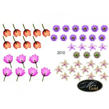 Cлайдер-дизайн цветы, акварель 2010