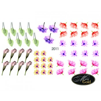 Cлайдер-дизайн цветы, акварель 2011