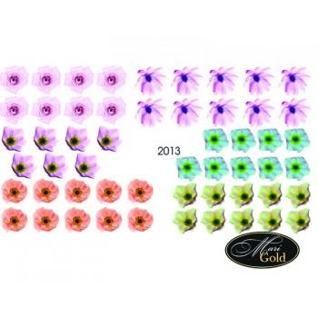 Cлайдер-дизайн цветы, акварель 2013