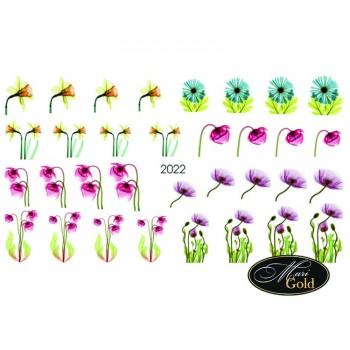 Cлайдер-дизайн цветы, акварель 2022