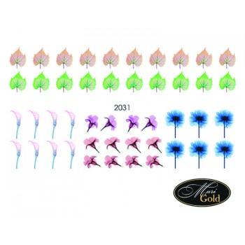 Cлайдер-дизайн цветы, акварель 2031