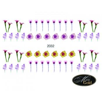 Cлайдер-дизайн цветы, акварель 2032