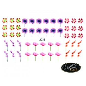 Cлайдер-дизайн цветы, акварель 2033