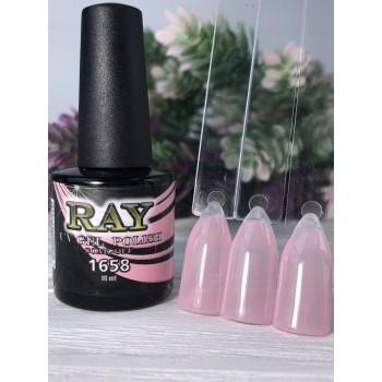 Гель-лак для ногтей RAY № 1658 (прозрачно-розовый), 10ml