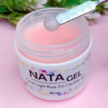 Однофазный УФ гель NATA gel Light Rose (густой), розовый, 50 ml