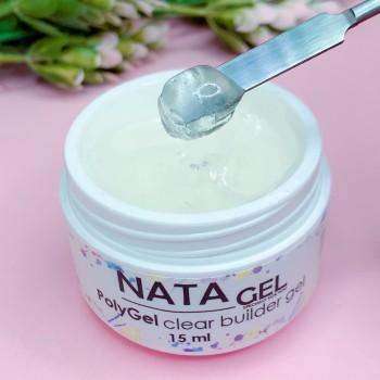 Полигель (акригель) NATA gel 15 грамм, прозрачный