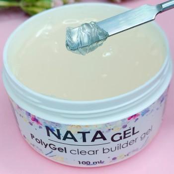 Полигель (акригель) NATA gel 100 грамм, прозрачный