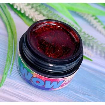 Гель-краска WOWcolor №10, красное сияние. 5 мл.