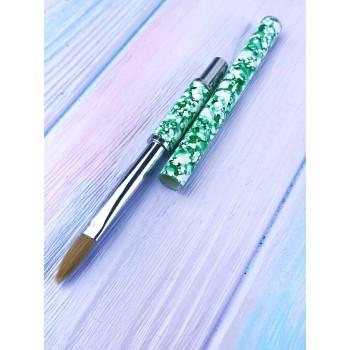 Кисть для акрила  Lilly Beaute, зеленая