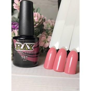Гель-лак для ногтей RAY № 181 (нежно-розовый), 10ml