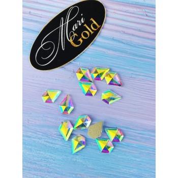 Стразы Crystal AB диамант, размер 7*7 мм. (1 шт.)