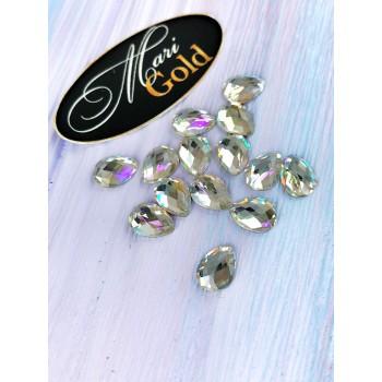 Стразы Crystal Lux  капля, размер 6*8мм. (1 шт.)