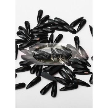Стразы Jet Black длинная капля, размер 3*10 мм. (5 шт.)