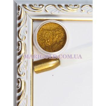 Зеркальная пудра для ногтей золото, ХРОМОВЫЙ ЭФФЕКТ