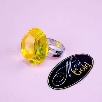 Палитра-кольцо на палец диамант (желтая)