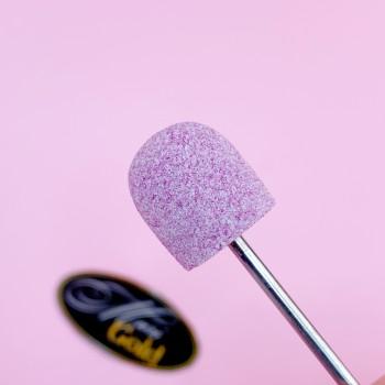 Насадка корундовая пуля 15*16 #A2 розовый, мелкий
