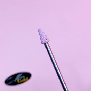 Насадка корундовая усеченный конус 4*8 мм #A12 розовый мелкий