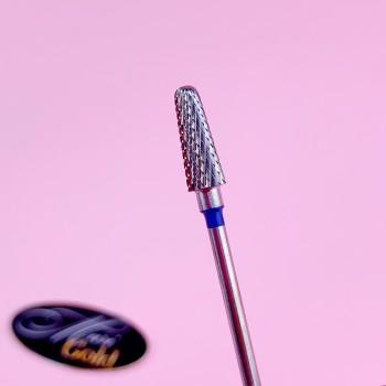 Фреза твердосплав (конус закругленный) синий 31350