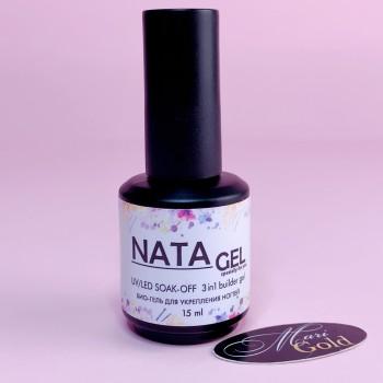 Био-гель NATA gel LED/УФ для укрепления натуральных ногтей 15 мл бутылочка