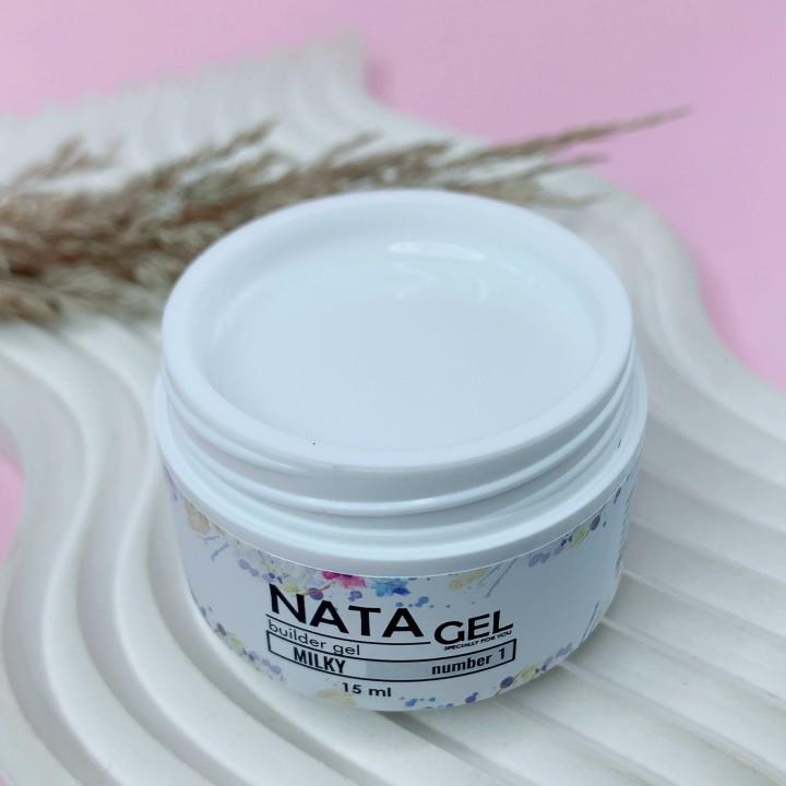 Однофазный гель NATA gel  MILKY №1, 15ml