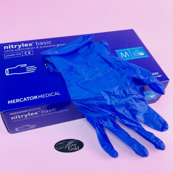 """Перчатки нитриловые NITRYLEX """"M"""" синие 1 пара (2 шт)"""