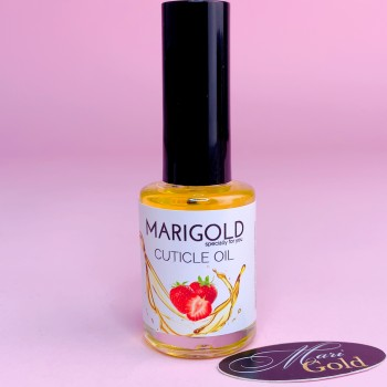 """Масло для кутикулы """"MARIGOLD"""" 10 мл, Клубника."""