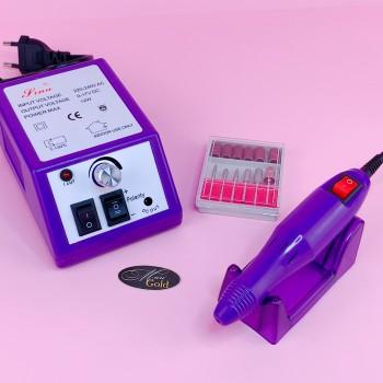 Фрезер для маникюра LINA 20000 (12W/20000 об.) фиолетовый