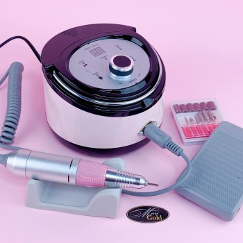 Фрезер для маникюра ZS-606 (65W/35000 об.) розовый