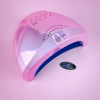 SUN one на 48 Вт (розовая радужная) UV LED лампа для сушки гелей и гель-лаков