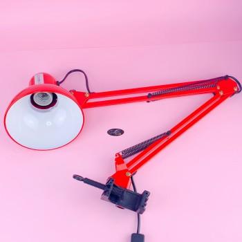 Настольная лампа на струпцине (красная)