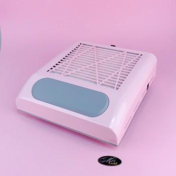 Вытяжка для маникюра с НЕРА фильтром SIMEI 858-8 на 80W Розовая