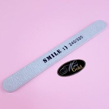"""Пилочка узкая для ногтей """"SMILE :)"""" 240/320"""