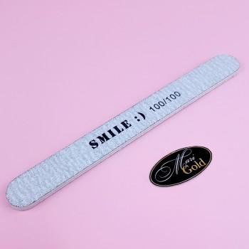 """Пилочка узкая для ногтей """"SMILE :)"""" 100/100"""