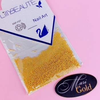 Бульонки металл, 5 грамм 1мм золото Lilly