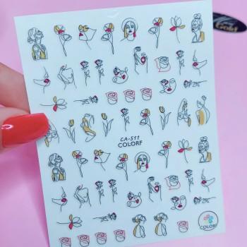 Гибкая наклейка для ногтей CA-511