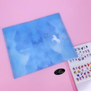 """Альбом для слайдер-дизайна """"Голубой единорог"""" 120 шт"""