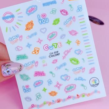 Гибкая наклейка для ногтей CA-028