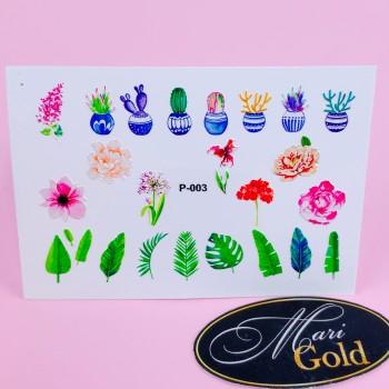 Слайдер-дизайн для ногтей рельефный P-003