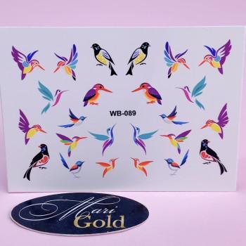 Слайдер-дизайн для ногтей Super print WB-089