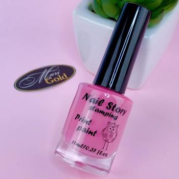 Лак- краска для стемпинга 11 мл. №09 пыльный розовый