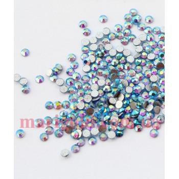 Стеклянные стразы Light Sapphire AB SS4 , 100ШТ