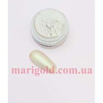 Пигмент,белый с салатовым отливом  металлик , 3гр.